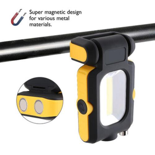 COB LED Magnetic Work Light Lamp White Flashlight Battery Power Car Repair Tool
