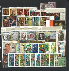 Niue-50-All-Different-Stamps-in-Glassine-Bag-Mint