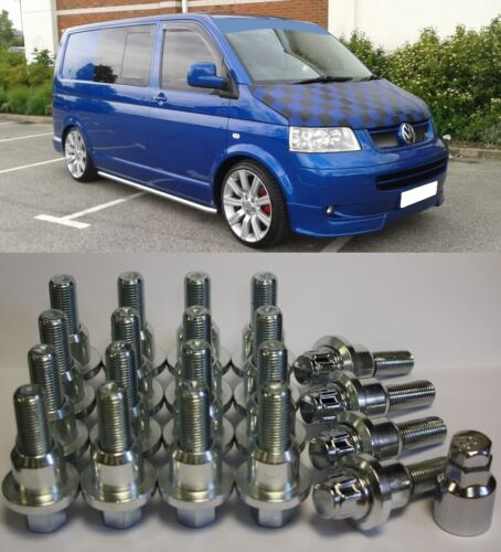 RANGE ROVER TO VW T5 DROP SIDE ALLOY WHEEL CONVERSION KIT BOLTS LOCKERS RINGS