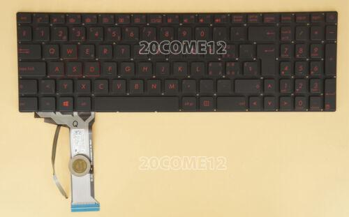 for ASUS G771 G771JM G771JW GL771JM GL771JW Keyboard RED Backlit Swiss Tastatur
