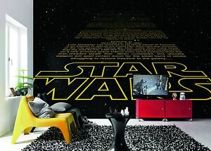 Wall Mural Photo Wallpaper STAR WARS INTRO Kids Room Decor Design