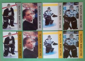1992-PROMO-KROWN-INTERNATIONAL-MANON-RHEAUME-LOT-OF-8-CARDS-4-SILVER-4-GOLD
