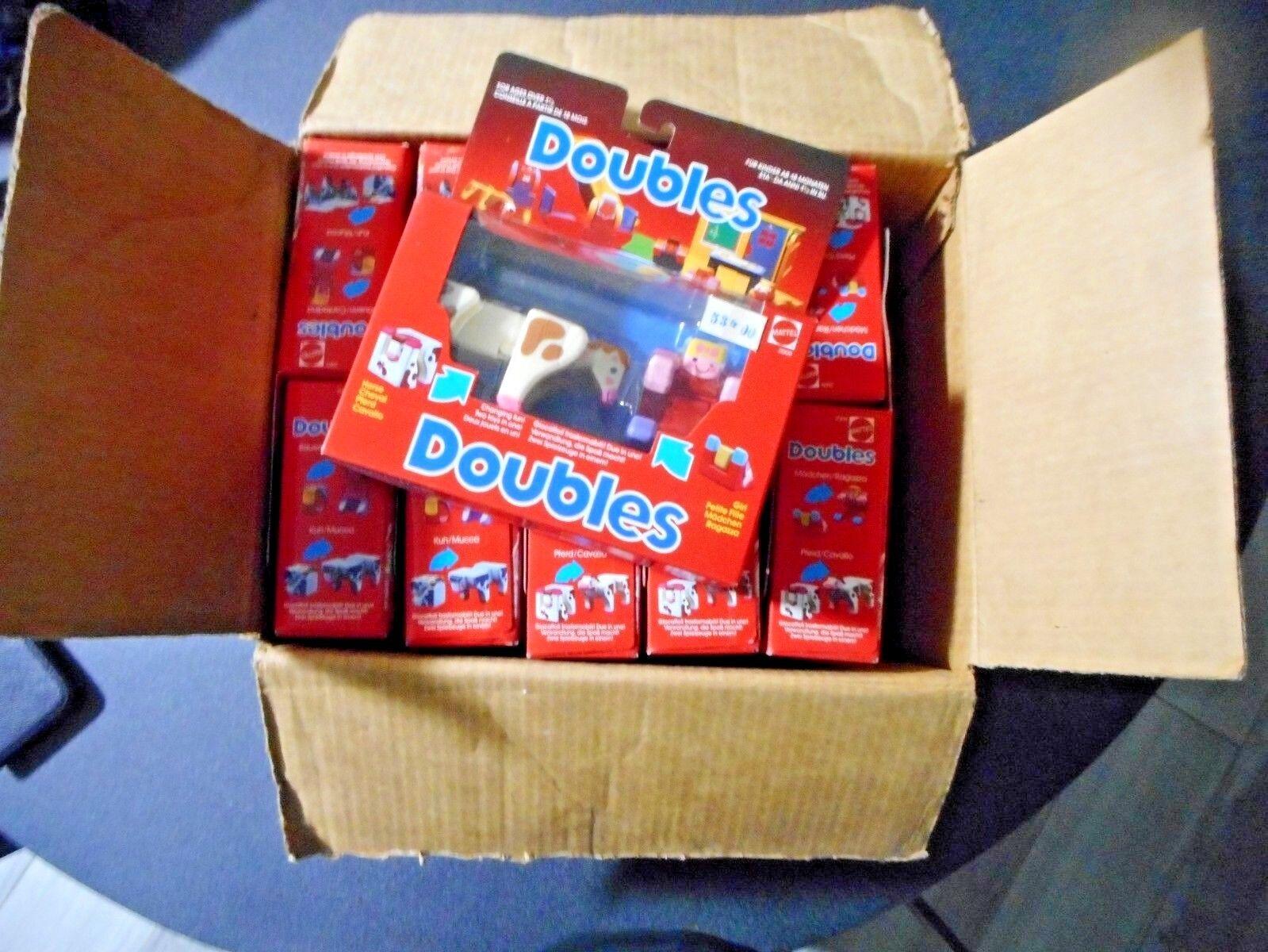 MATTEL 1985 DOUBLES dooz PETITE FILLE  CHEVAL   1 carton 11 pieces