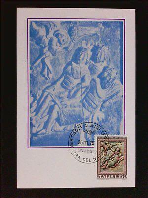 Italien Mk 1975 Weihnachten Christmas Maximumkarte Carte Maximum Card Mc C7626