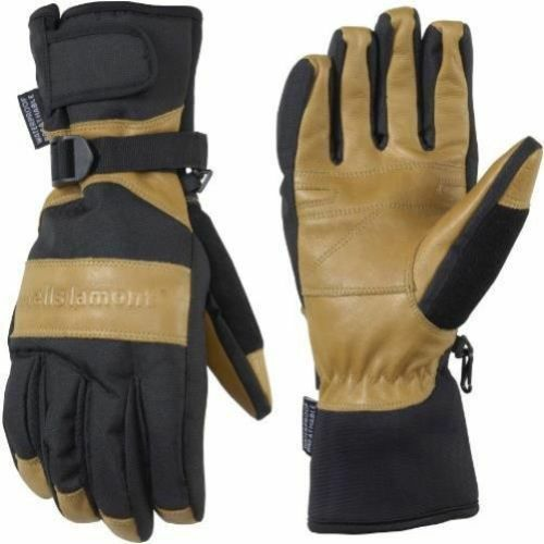 New Wells Lamont 7660 Grips Gold Insulated//Waterproof Work Gloves Cognac Brown