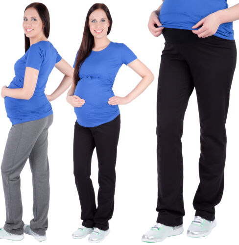 Maternity casual Yoga Gym sweatpants Trousers Pants Over Bump 6 8 10 12 14 16 18