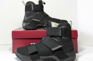 best sneakers 74ace 93026 Details about Nike Lebron Soldier X 10 Basketball Shoes Triple Black Space  Size 10 844374-001