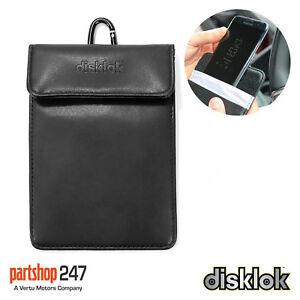 Disklok Security 17cm Faraday Phone Signal Block RFID Anti-Theft Pouch Wallet