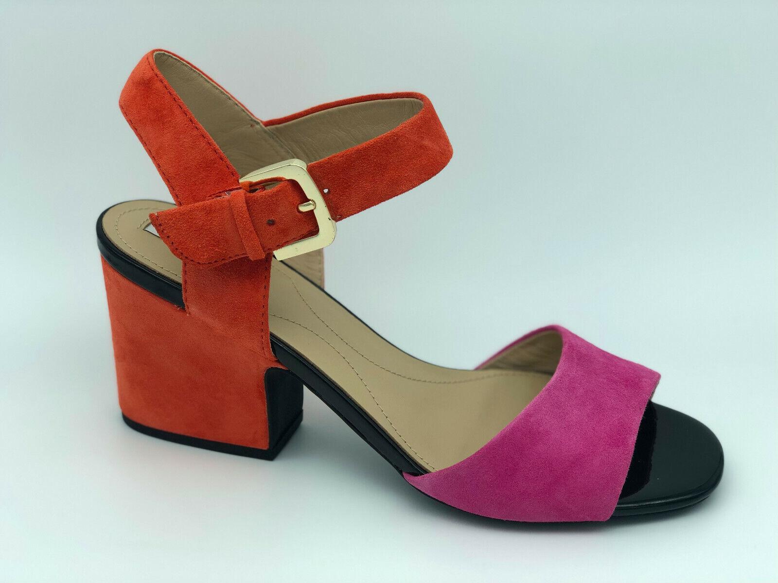Sandali Geox D Marilyse B camoscio rose e arancio tacco 8,5 cm