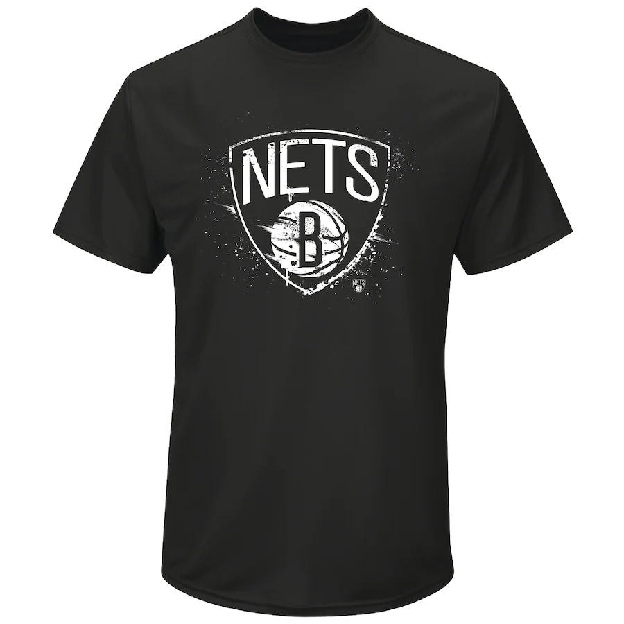 Brooklyn Nets NBA T-Shirt Men's Iconic Splatter Graphic T-Shirt - New