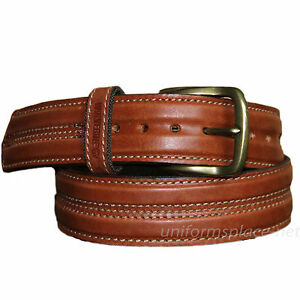 wolverine leather belt 1 1 4 quot stitched heavy duty
