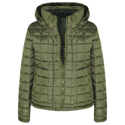 Garçons Veste Kids Designer Olive Mousse Rembourré Puffa École chaud épais vestes manteau