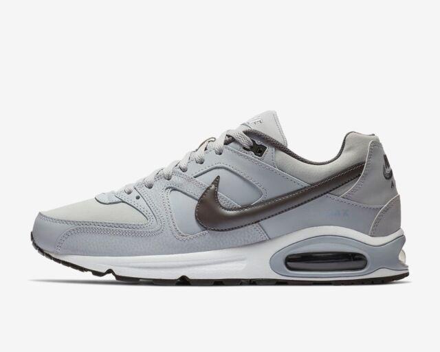Rabatt Nike Air Max Command Leather White Black Wolf Grey