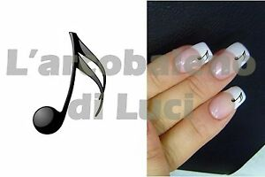 Details About 20 Pegatinas Para Uñas Nota Musical Nail Art Sticker Musical Note Reconstrucción Show Original Title