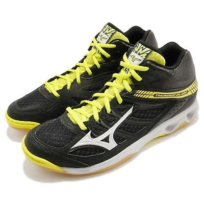 Men's Shoes Diplomatic Mizuno Thunder Blade Mid Black Yellow Men Badminton Volleyball Shoes V1ga1875-03 For Improving Blood Circulation