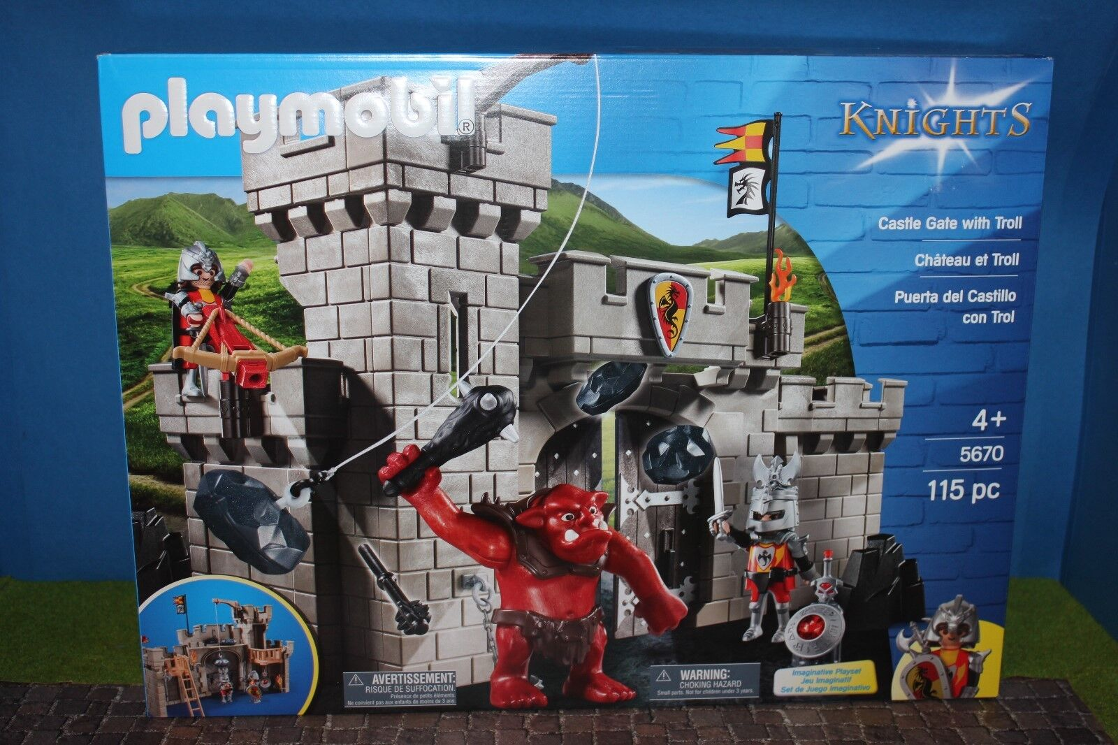 Playmobil Knights Castle Gate with Giant Troll 5670 New Sealed Misb