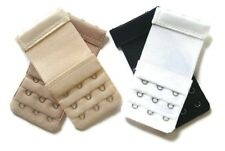 accfe228d59d5 Set of 4 Narrow Bra Extenders 3 Hooks With Elastic Band Half Inch Spacing