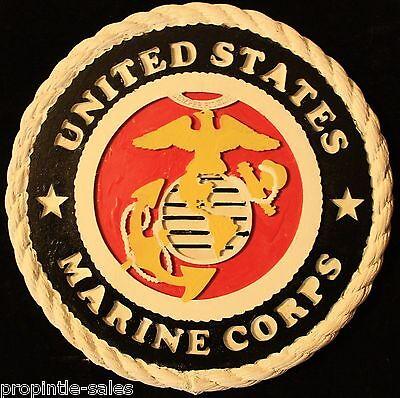 """U.S - NEW MARINE CORPS VETERAN- Garden Stone 11/"""" X 1/"""" Made in U.S! Painted"""