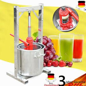 Obstpresse-Weinpresse-Apfelpresse-12L-Entsafter-Saftpresse-mit-Hydraulic-Jack-DE