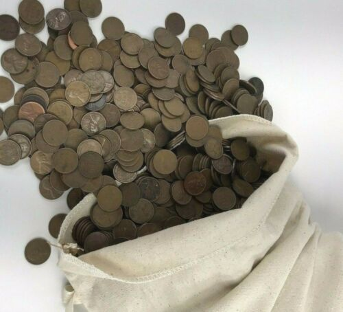 1940-1958 PDS 1000 Wheat Penny Cents Wholesale Lot 7 lbs US Copper Coins!