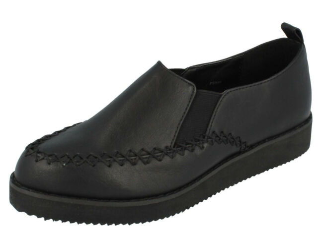 R14A Spot On F9R588 Ladies Black Lace-up Shoes UK Sizes 5 /& 6