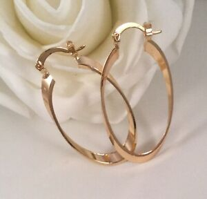 Vintage-Jewellery-Gold-Hoop-Earrings-Ear-Rings-Antique-Deco-Jewelry