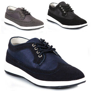 Scarpe-Uomo-Sneakers-Pelle-PU-Casual-Francesine-Mocassini-Ginnastica-Comode-S67