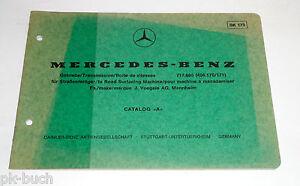 Catalogo Ricambi Immagini Mercedes Benz Marcia Per Straßenfertiger 717.800 1975