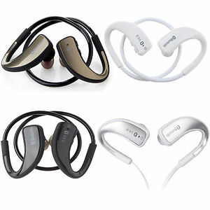 Fashion Sports Bluetooth Stereo Headset Earbuds Earphone For Smartphones Tablet