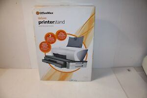Image Is Loading Office Max Deluxe Printer Stand Om01072 New
