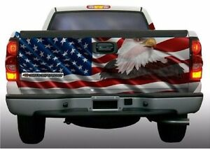 American Flag Eagle Truck Tailgate Vinyl Graphic Decal