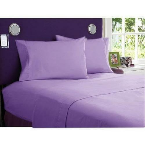 Super Soft Bed Sheet Set Solid//Stripe All Color /& Sizes 1000 TC Egyptian Cotton