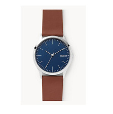 Skagen Jorn Brown Leather Strap Men's Watch New In Box With Tags SKW6585
