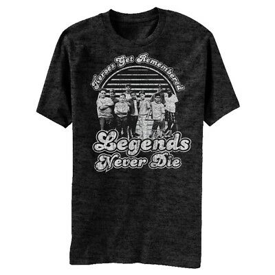 The Sandlot Movie Legends Never Die With American Flag Background Adult T Shirt