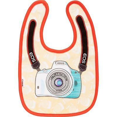 Canon Gear Baby Bib Orange Water Resistant 100% Cotton 32.5 x 22.5 cm Soft