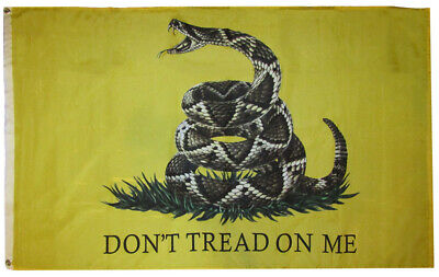 3x5 Gadsden Realistic Snake Don/'t Tread 3/'x5/' Rough Tex 100D Oxford Poly Flag