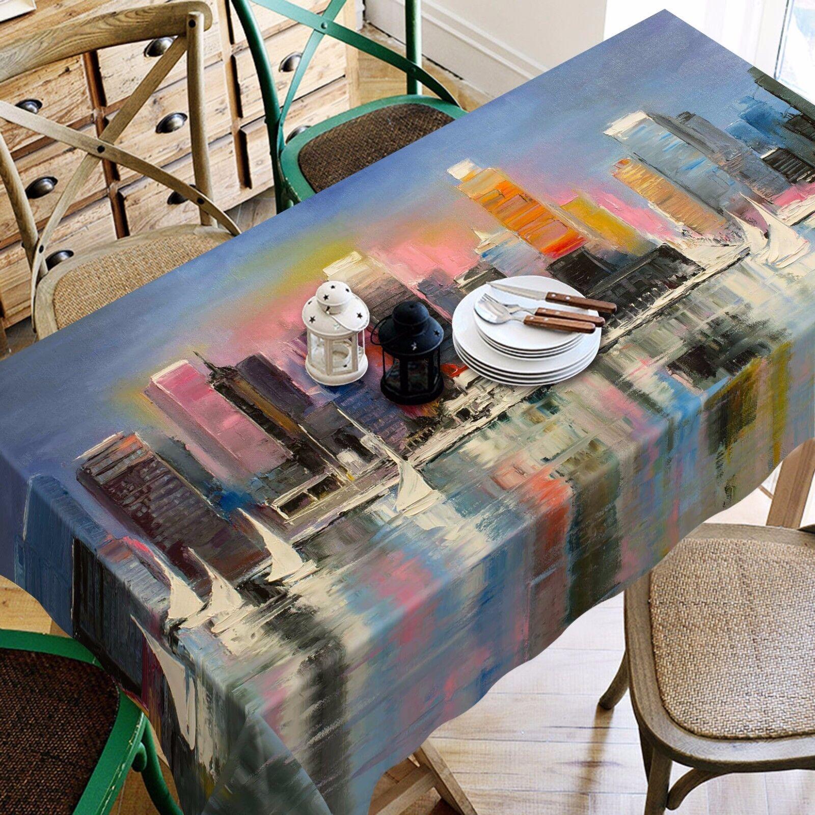 3D Ville de Mer 79 Nappe Table Cover Cloth Fête D'Anniversaire événement AJ papier peint UK