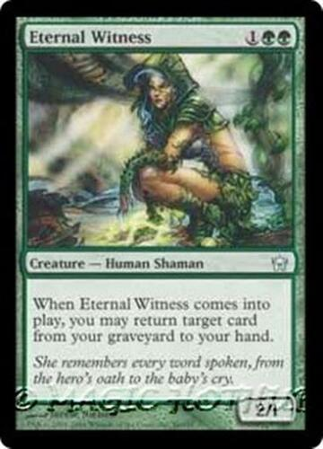 ETERNAL WITNESS Fifth Dawn MTG Green Creature — Human Shaman Unc
