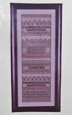 LINEN HOME SAMPLER Dimensions Counted Cross Stitch Vintage Kit Houses Cats Hearts Stitchery Needlework Unopened Kit