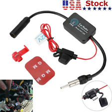 Car Fm Amp Am Radio Antenna Signal Amplifier Auto Stereo Aerial Signal Amp Booster