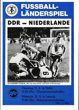 Länderspiel 12.03.1986 DDR - Niederlande in Leipzig
