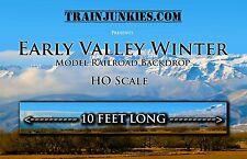 """TrainJunkies HO Beautiful Early Valley Winter Backdrop 18x120"""" C-10 Mint-Brand"""