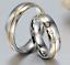 Coppia-Fedi-Fede-Fedine-Anello-Anelli-Fidanzamento-Nuziali-Oro-Acciaio-Zircone miniatura 2