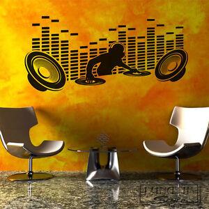 Wandtattoo Aufkleber Music Deejay Lautsprecher Wa85 Ebay