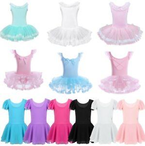 Girls-Gymnastics-Ballet-Dress-Toddler-Kids-Leotard-Tutu-Skirt-Dance-Wear-Costume