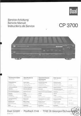 Bescheiden Dual Original Service Manual Für Cp 3700 VerrüCkter Preis