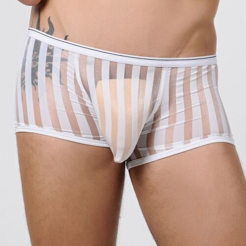 Transparentes gay//straight-Ropa Interior Nueva Diseñador boxeador troncos en blanco neto