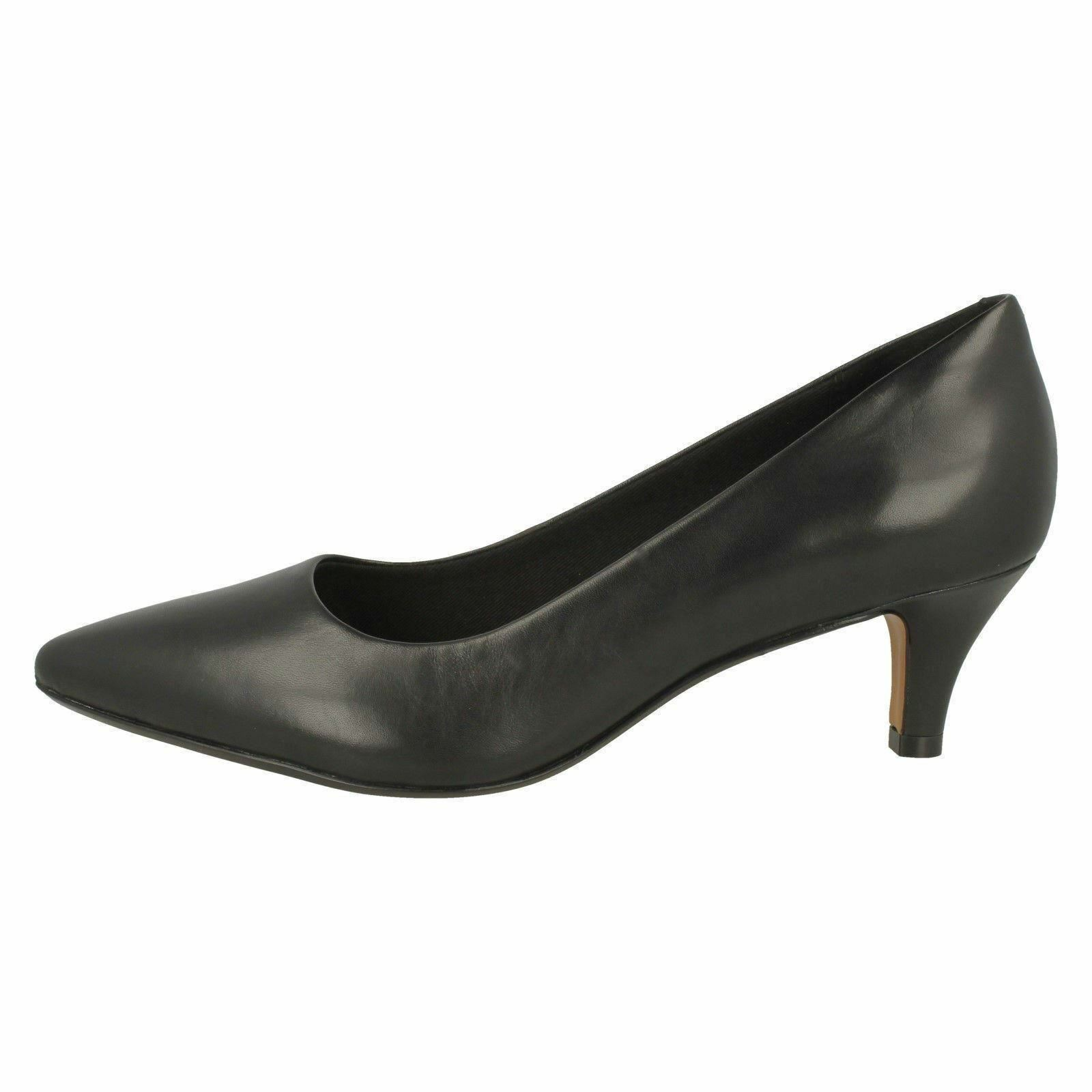 LADIES CLARKS SLIP PATENT LEATHER SLIP CLARKS ON POINTED SMART COURT Schuhe LINVALE JERICA 714459