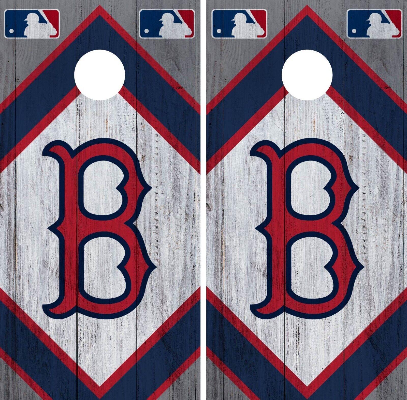 Boston Red Sox Cornhole Wrap MLB Wood Game Board Skin Set Vinyl Decal CO376