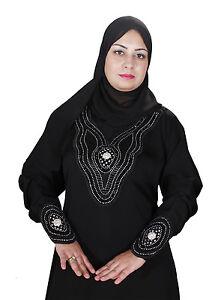 Dubaï abaya en style islamique corvée avec voile en Noir-aby00336 Vêtements, accessoires Robes